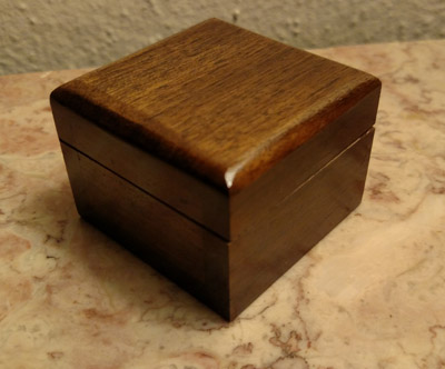 Mysterious Wooden Coin Box